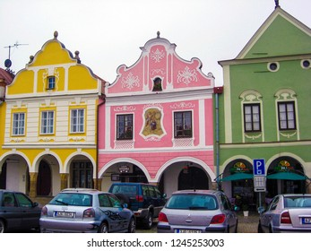 Telc, Czech Republic - October 12, 2012: Old Town Telc it's a UNESCO World Heritage Site