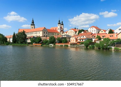 Telc, a town in southern Moravia near Jihlava in the Czech Republic. The historical heart of the town was registered in 1992 on the UNESCO�¨s List of World Cultural Heritage sites.