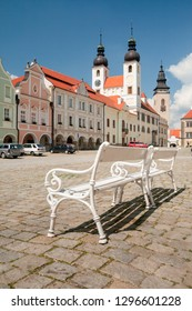 "Telc, Vysocina Region, CZ - JUN 10, 2008 - Square ""Zacharias of Hradec"" at the city of Telc"