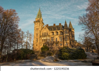 Teleborg Castle (Teleborg Slott)  in Vaxjo in the region Smaland in Sweden during winter time