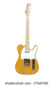 Telecaster electric guitar isolated on white