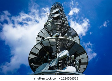 Telecom mobile transmitter in beautiful mountains