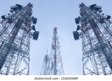 telecommunication mast TV antennas wireless technology