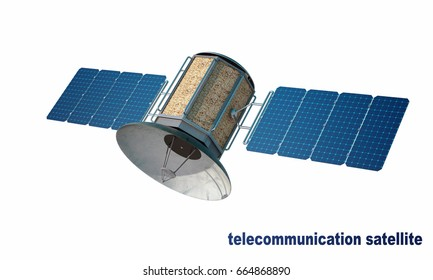 telecommunication satellite (Elements of this image furnished by NASA 3D Rendering 3D illustration)