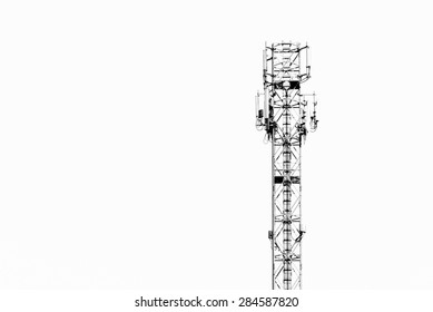 Telecommunication tower with isolated background