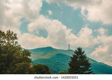 telecommunication tower on top of mountain vitosha in sofia bulgaria