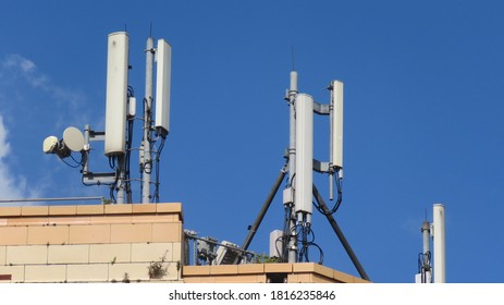 Telecommunications equipment for all UK operators on a rooftop in Hartlepool