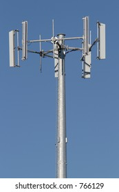 telecommunications tower for the cellular phone industry, closeup