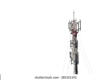 telecommunications tower on white background