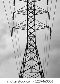 Telecommunications tower and wires