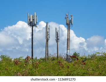 Telecommunications towers relays and mobile radio antennas  in Puerto Rico