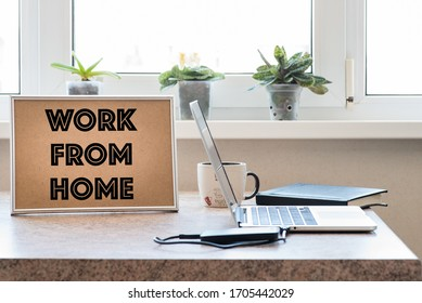Telecommuting amid the spread of Covid-19. Home office and telecommuting concept
