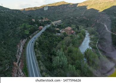 teleferic upload, Sanctuary of Our Lady of Montserrat. Montserrat is a rock massif traditionally considered the most important and significant mountain in Catalonia, Spain