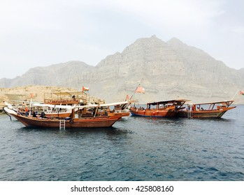 Telegraph island, an old colonial era communication island of British empire, part of Dhow cruise in Musandam, a peninsula of Sultanate of Oman.