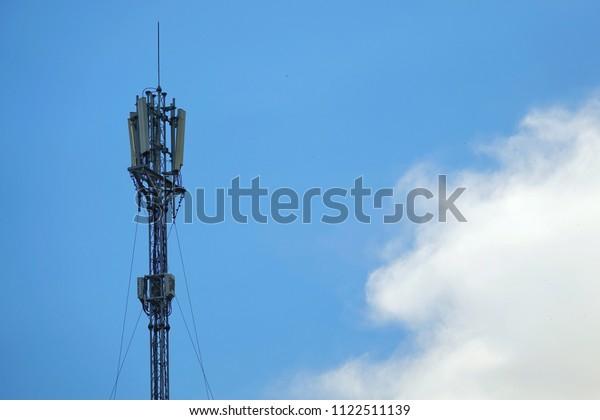 Telephone Antenna Mast 3g 4g Antenna Stock Photo (Edit Now) 1122511139