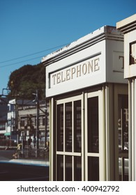 Telephone Booth Vintage style outdoor City Urban scene