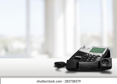Telephone, Business, White.