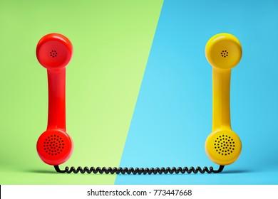 Telephone communication concept.