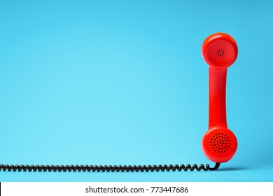 Telephone communication concept.