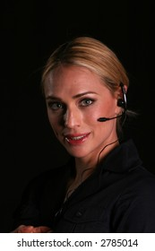 telephone customer service concepts a friendly customer service Representative answers your phone calls