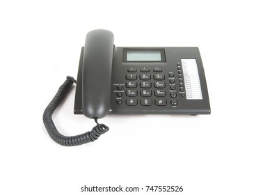 Telephone devices on white