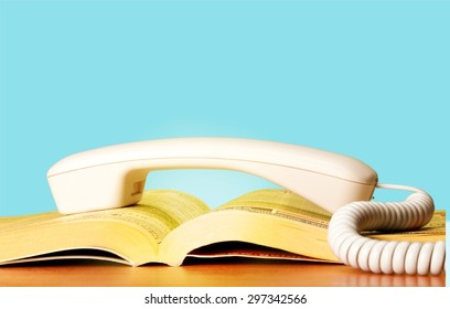 Telephone Directory, Yellow Pages, Yellow.