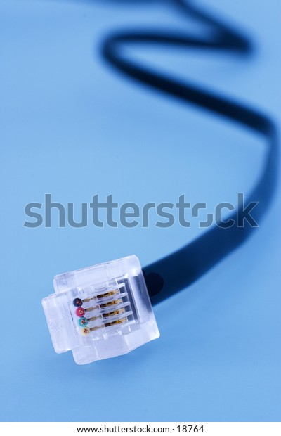 A telephone jack for an internet connection