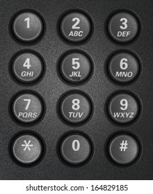 telephone keypad with round buttons