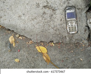 telephone on cement