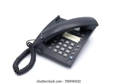 Telephone on white background