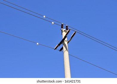 Telephone poles and wires