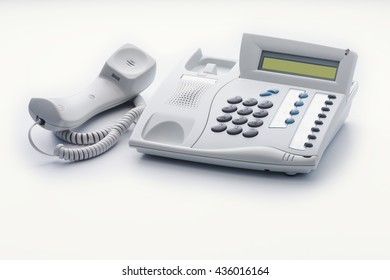 Telephone set of offhook milk white color
