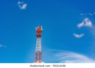 Telephone tower with sky