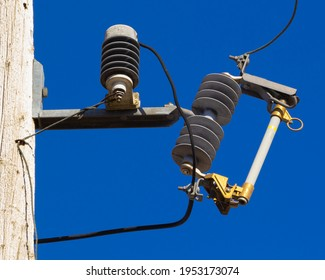 Telephone or utility power pole fuse and surge protector