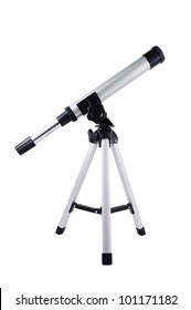 Telescope isolated on white background.