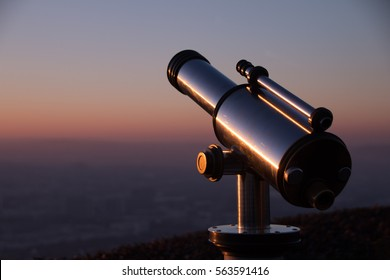 Telescope with landscape