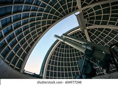 The telescope looking to the heavens.