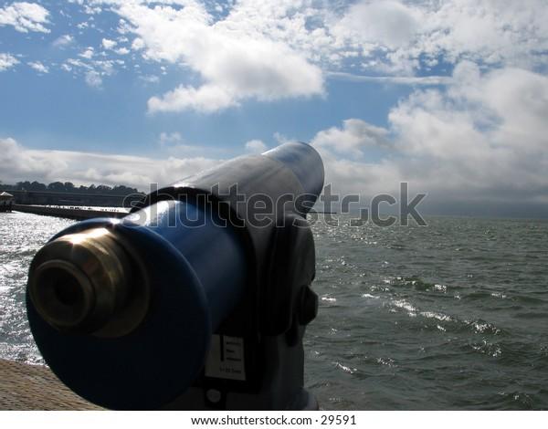 A Telescope on Fisherman's WHarf in San Francisco