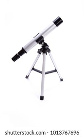 Telescope. Telescope on white background.