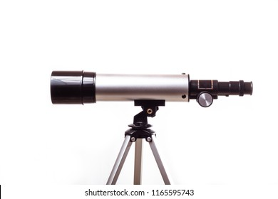 telescope on a white background in studio in France