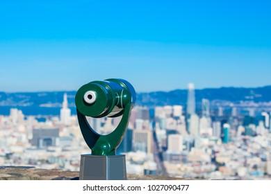 Telescope at twin peaks of San Francisco