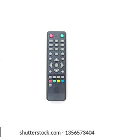 Television  and audio Remote control on white background.