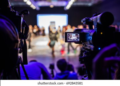 Television Camera Broadcasting a Show