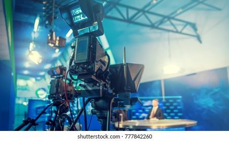 television camera close-up