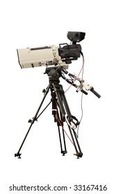 Television camera on a tripod