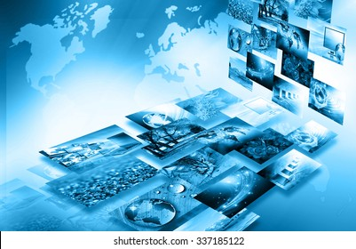 Television and internet production technology concept. Best Internet Concept of global business
