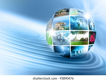 Television and internet production technology concept