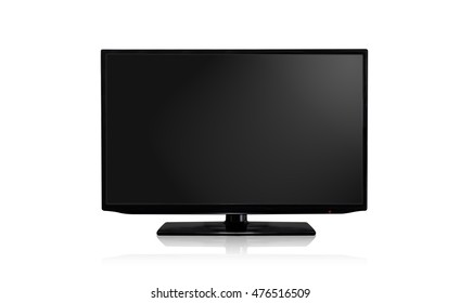 Television isolated on white background with clipping path