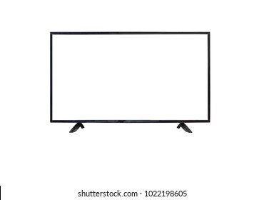 Television LED on isolated or white screen.