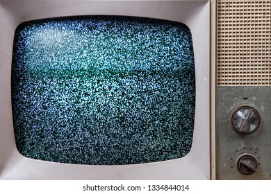 Television noise on an old tv set